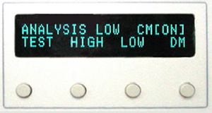 EMCIS EMI Analyzer EA-2100 Control button and Display