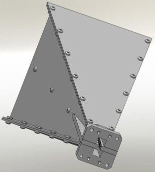 HWRD 750 Double ridged horn antenna with waveguide flange WRD750