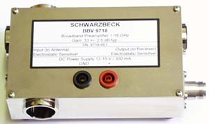 Schwarzbeck BBV 9718 Broadband Coaxial Preamplifier