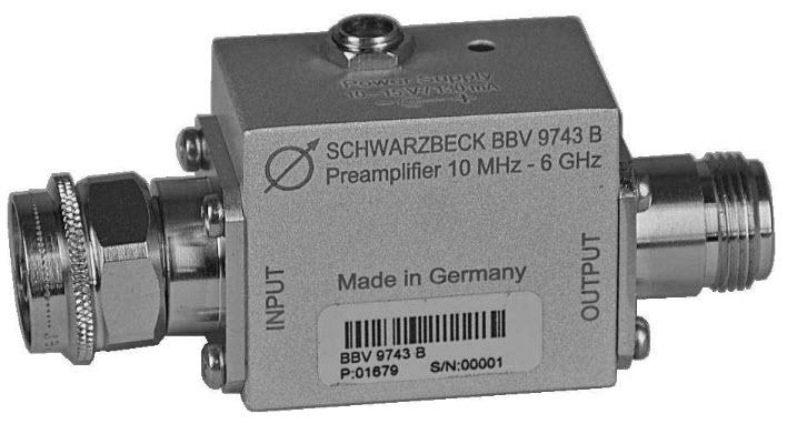 Schwarzbeck BBV 9743 B Broadband Coaxial Preamplifier