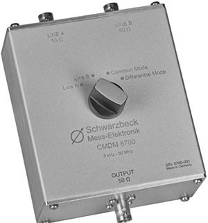 Schwarzbeck CMDM 8700 Common Mode and Differential Mode Switch
