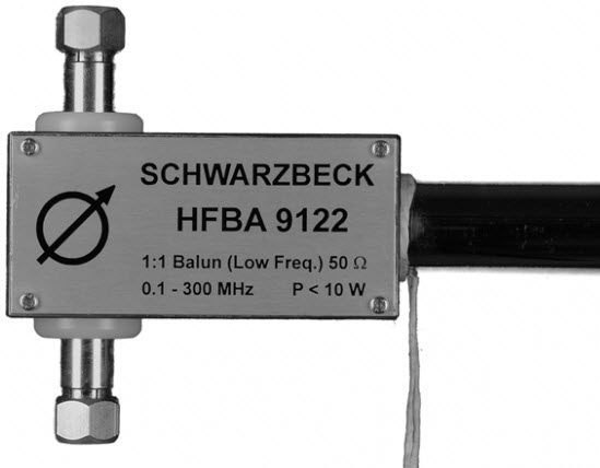 Schwarbeck HF-VHF Broadband Balun Holder HFBA 9122