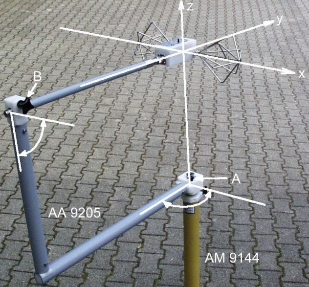 Schwarzbeck Orthogonal Swivel Adapter AA 9205