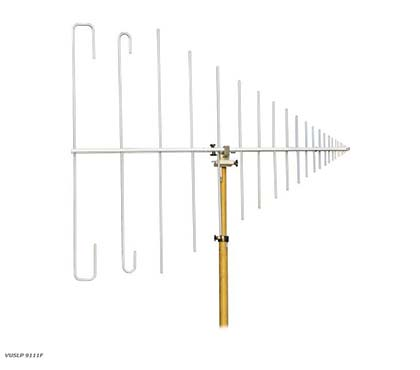 Schwarzbeck VUSLP 9111 F - Demountable Log-Per Antenna - Top View-Small